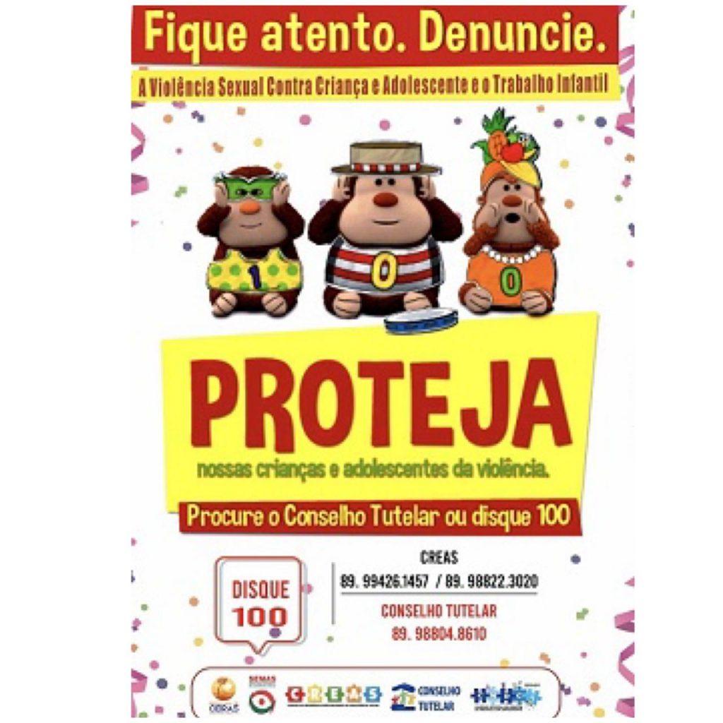 CREAS mobiliza população de Oeiras para combate ao abuso e exploração sexual no Carnaval 2